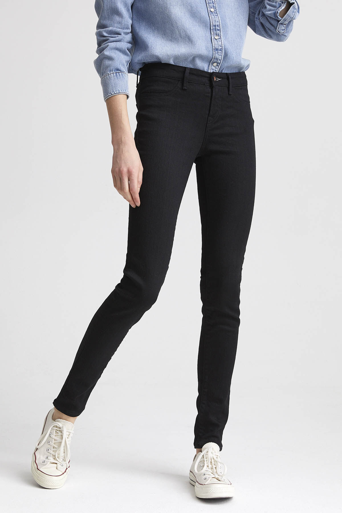 SPRAY Double Black Stretch Denim - Mid-rise, Tight Fit