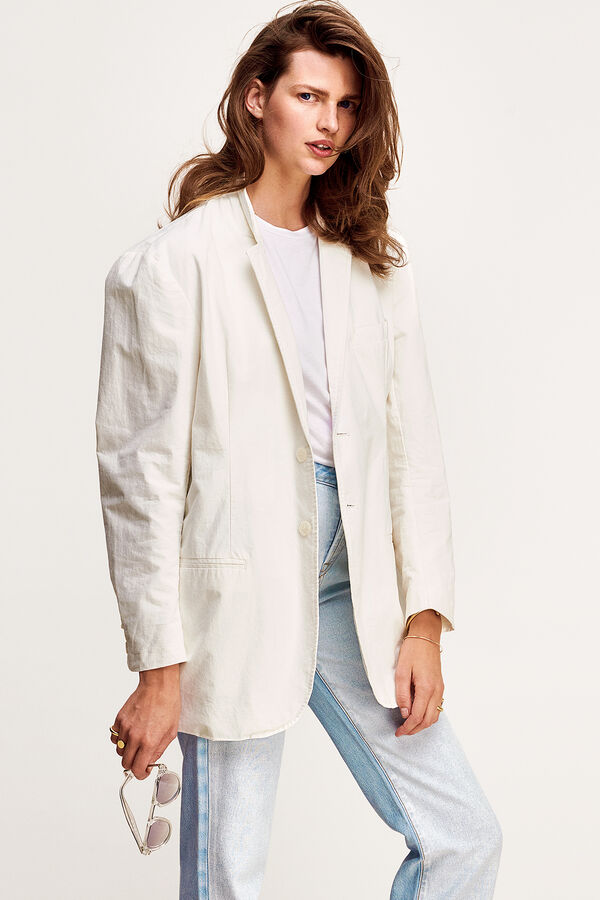 JAMIE JACKET Crisp White Cotton - Oversized Fit