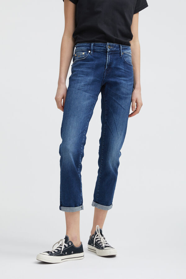 MONROE GOTS Organic Cotton & 3D Whiskers  Denim -  Girlfriend Fit
