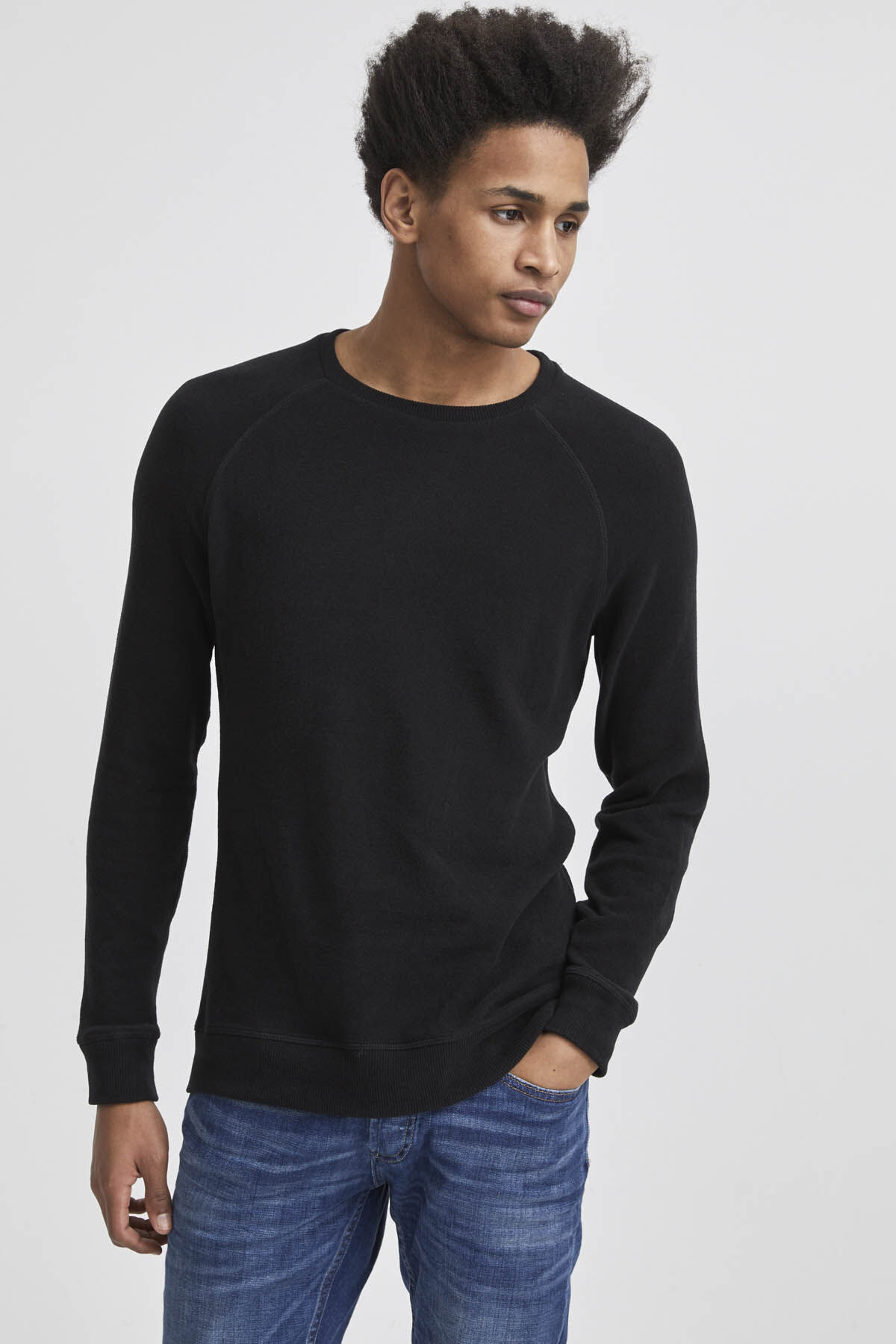 JV RAGLAN CREW Cotton Fleece Jersey - Regular Fit