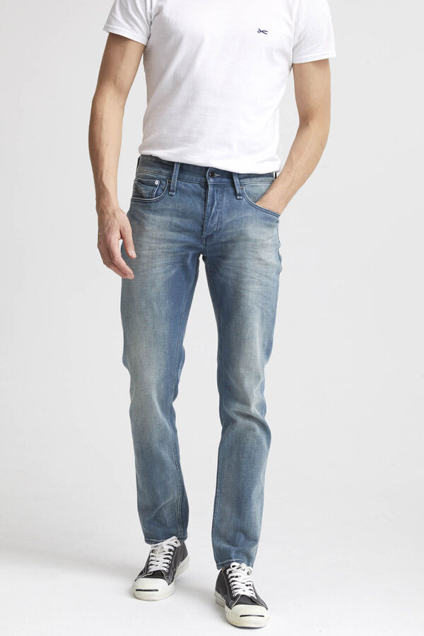 RAZOR 3D Whisker Pattern Denim - Slim Fit