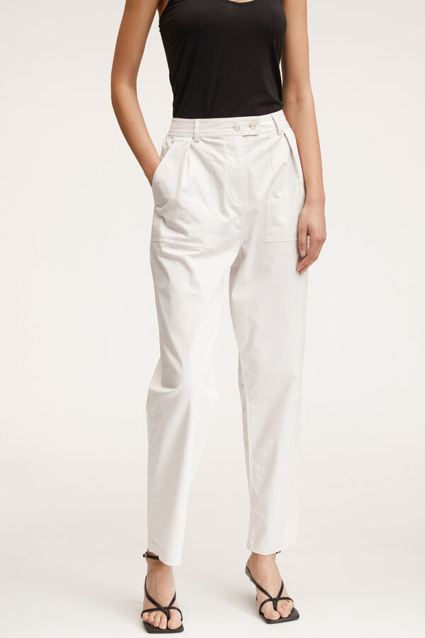 JODIE PANT Crispy Stretch Poplin - High-rise