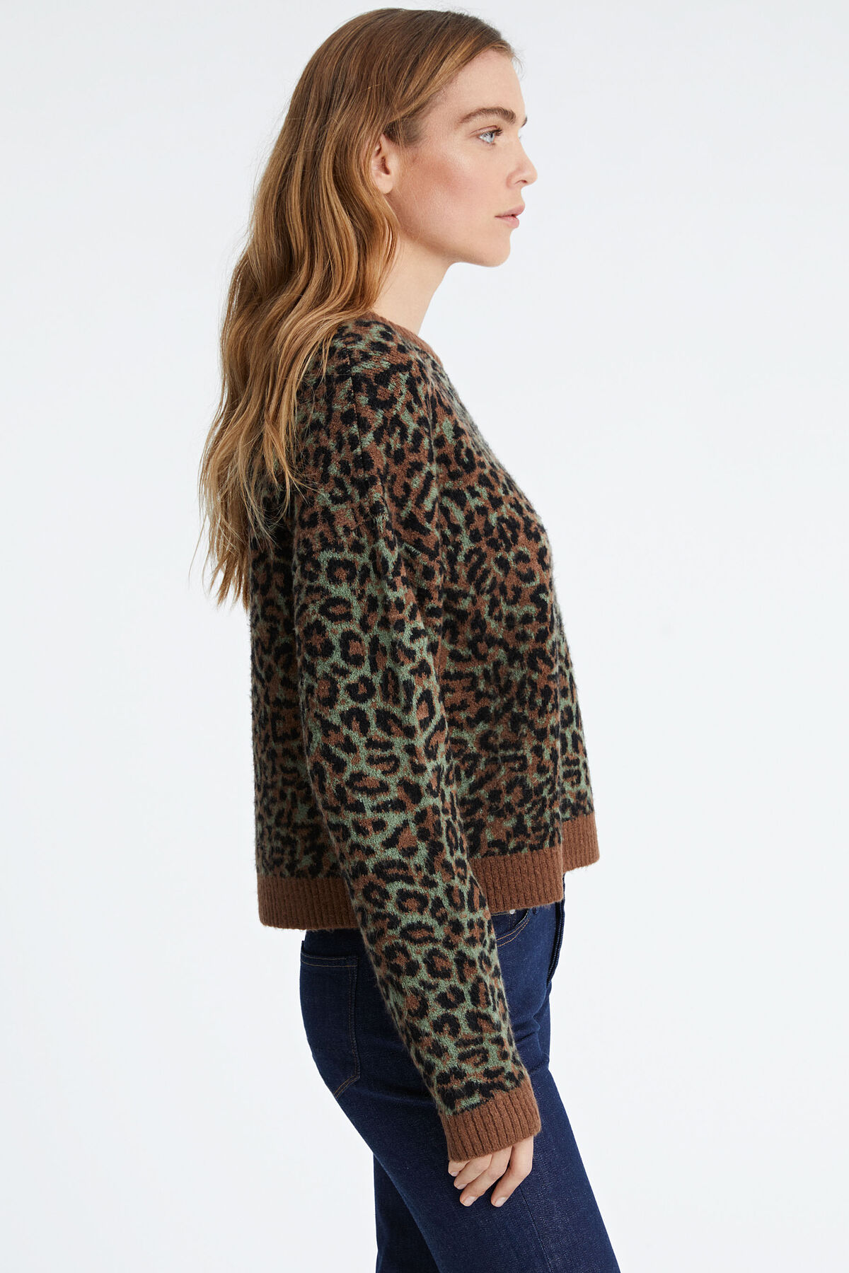 GRESHAM JUMPER Seasonal leopard jacquard - Boxy Fit
