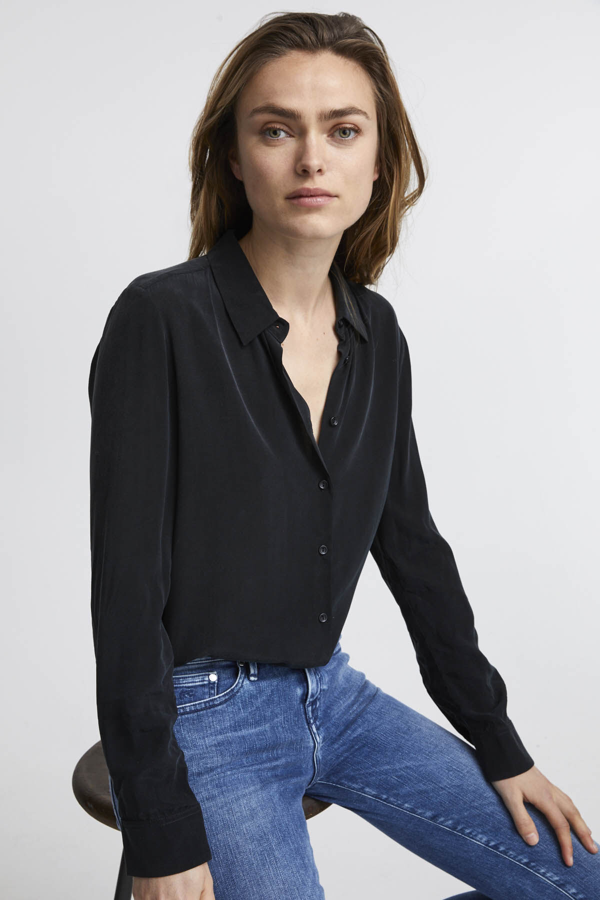 JESSIE SHIRT Silk Touch Cupro - Regular Fit