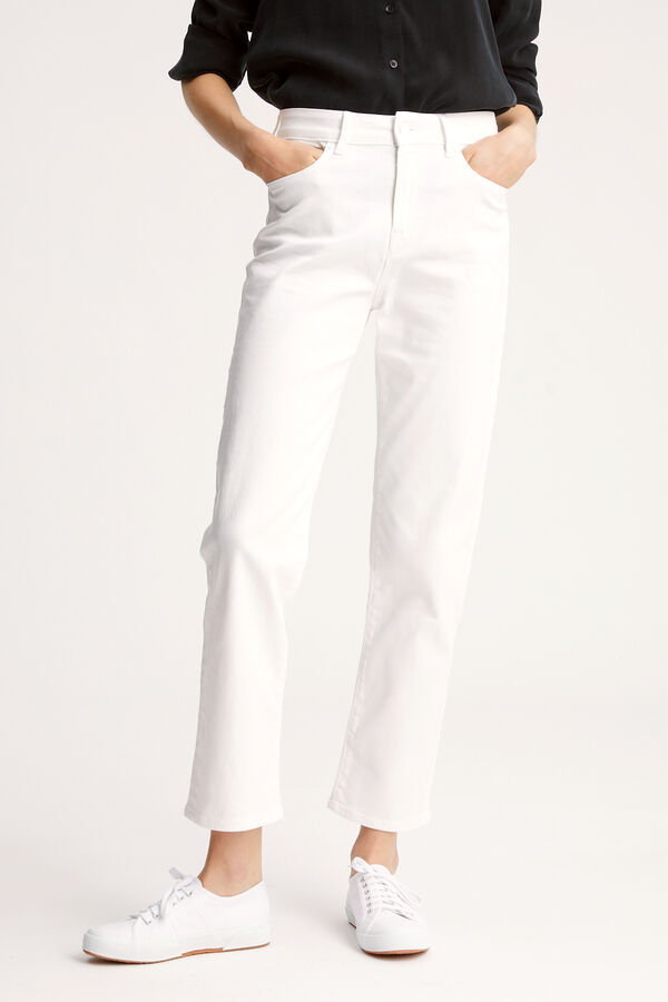 BARDOT STRAIGHT Lightweight, White Denim - High-Rise, Straight Fit