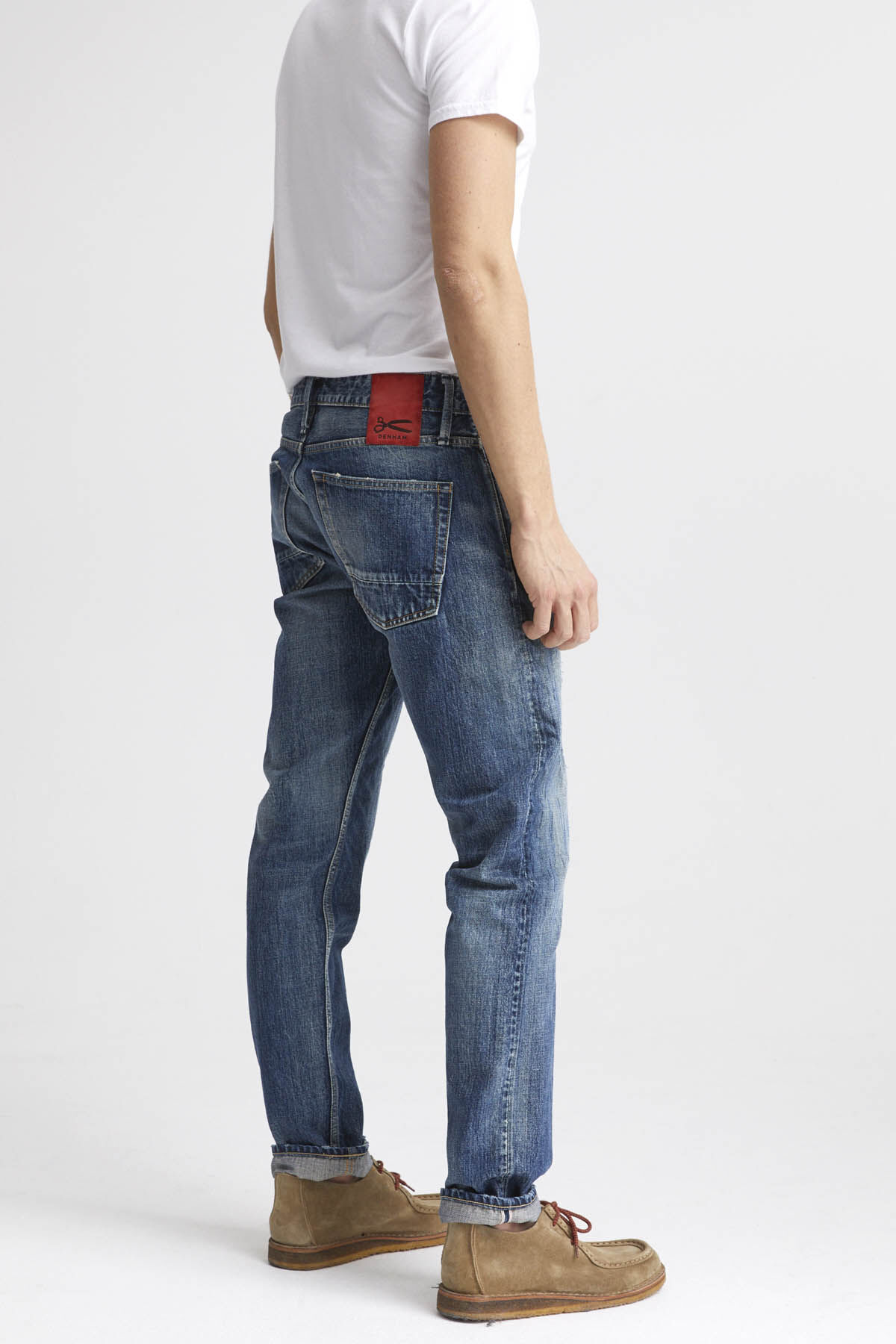 RAZOR Selvedge Denim, Whisker Pattern  - Slim Fit