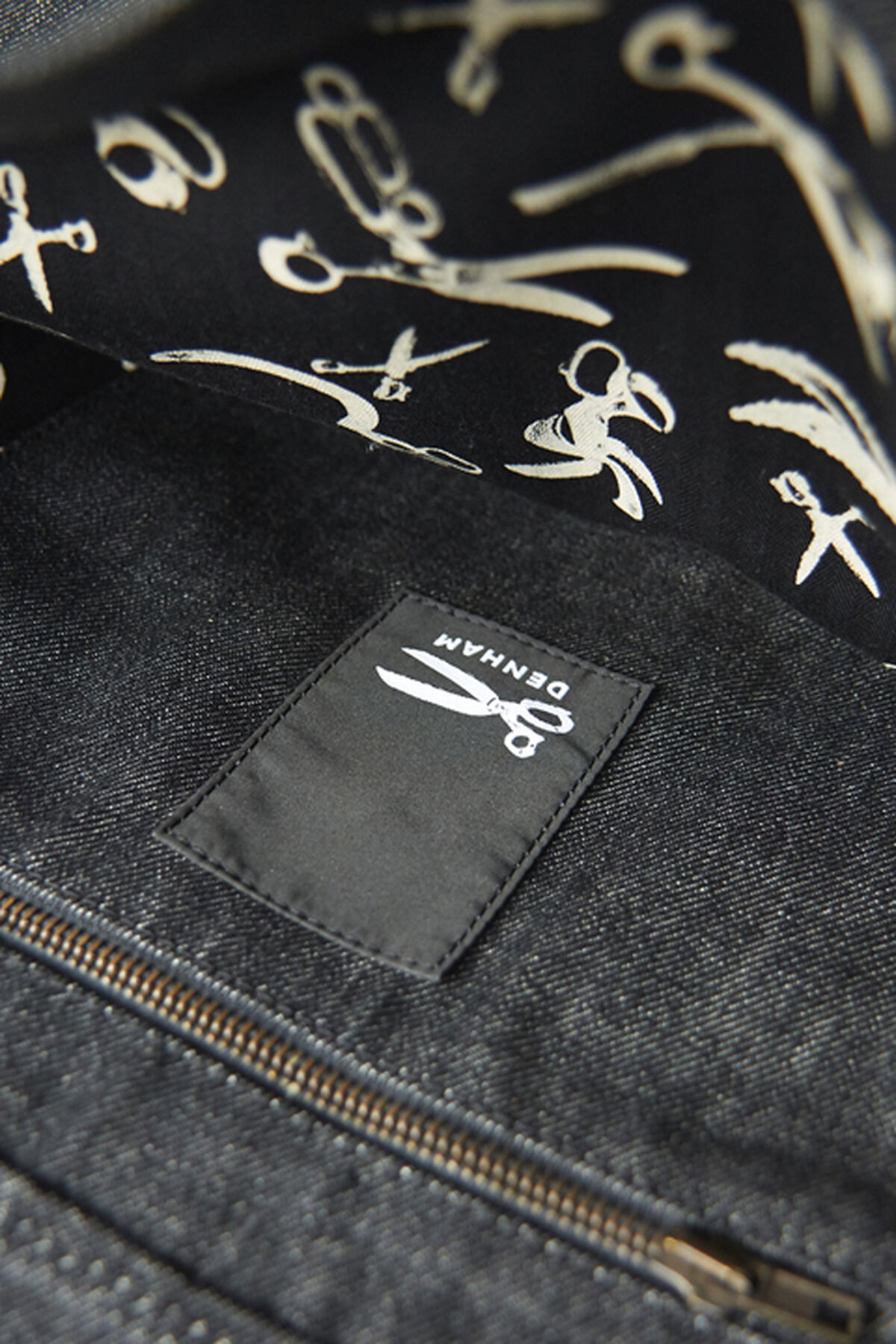 Denim and Leather Bag - BB