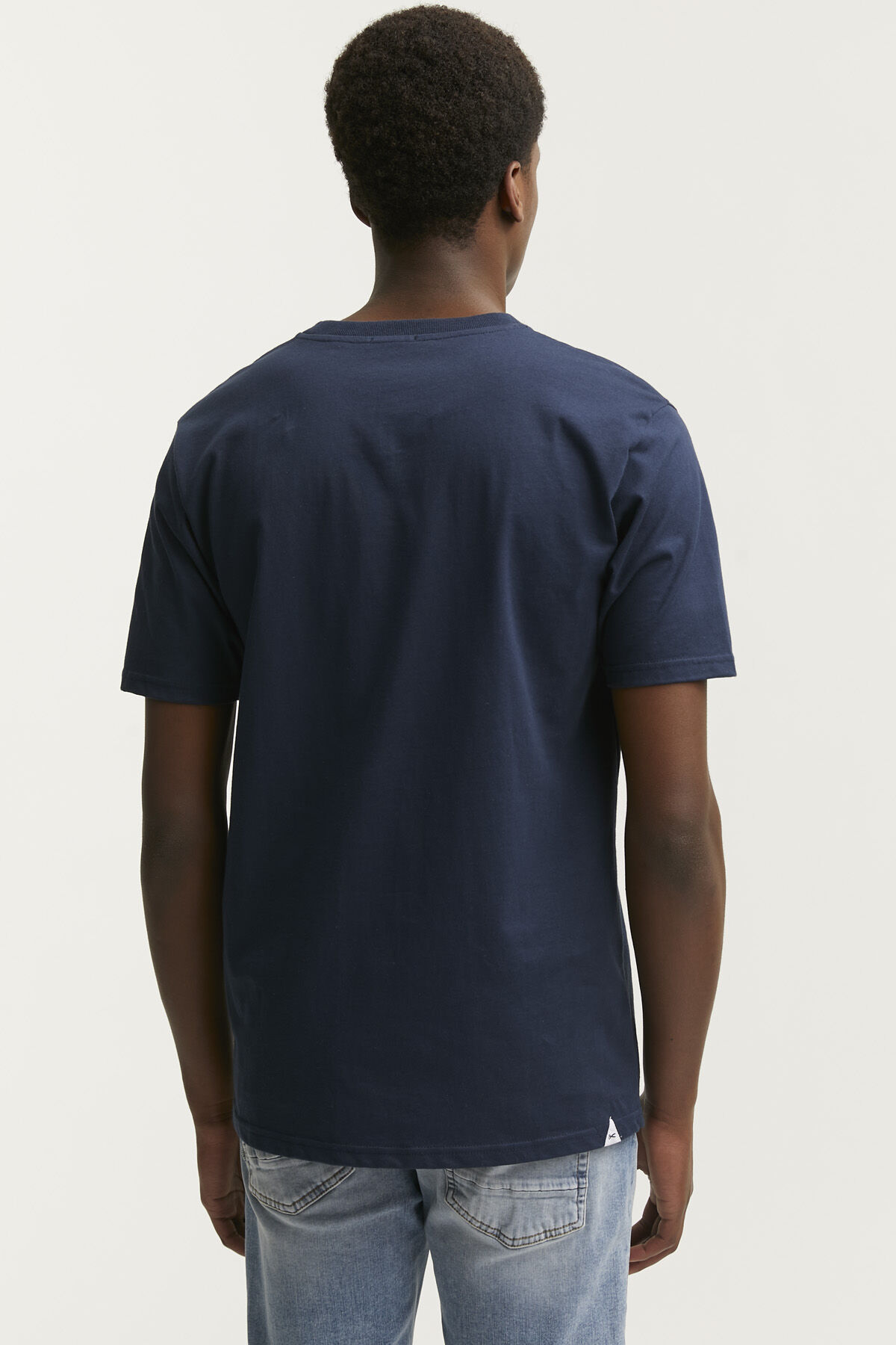 DENHAM INDIGO MONSTER PATCH TEE  Heavy Core Jersey - Regular Fit