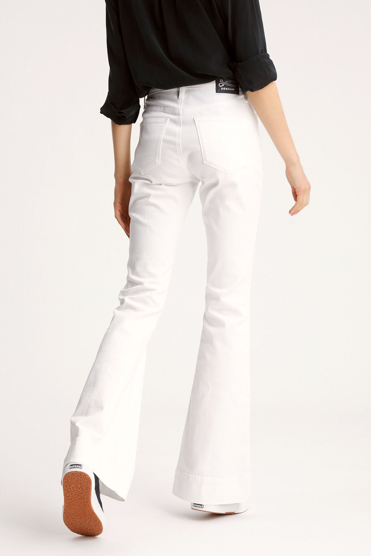 JANE Lightweight, White Denim - Flare Fit