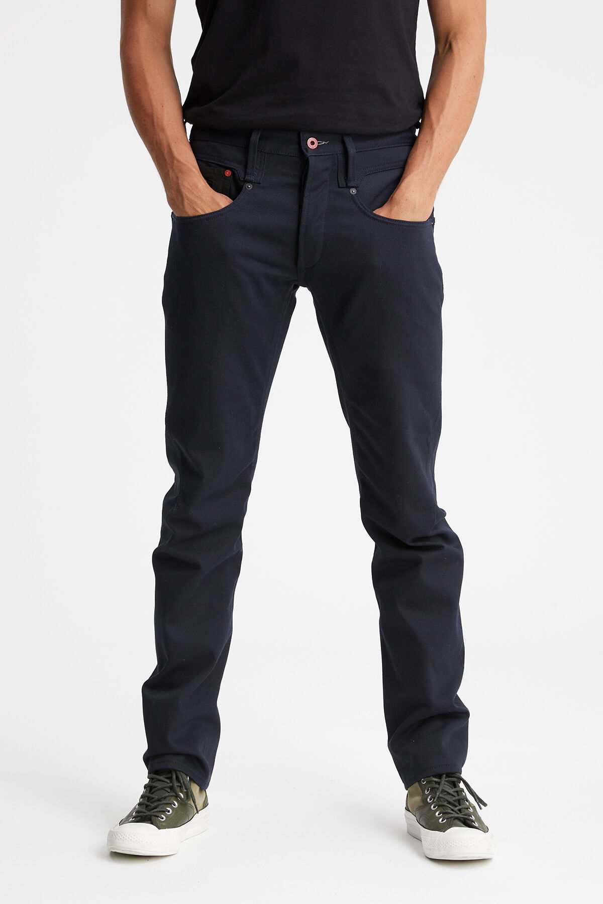 CROSSBACK Virgin indigo denim mix - Carrot Fit