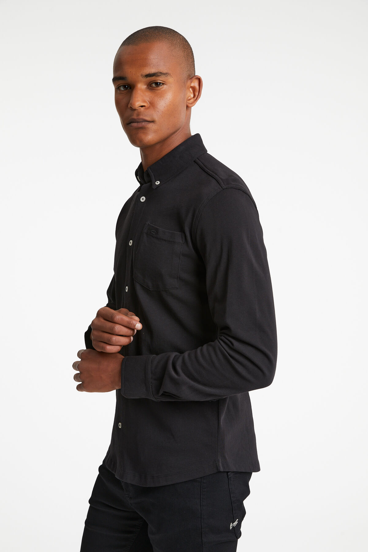 BRIDGE SHIRT Heavyweight comfort stretch jersey - Slim Fit