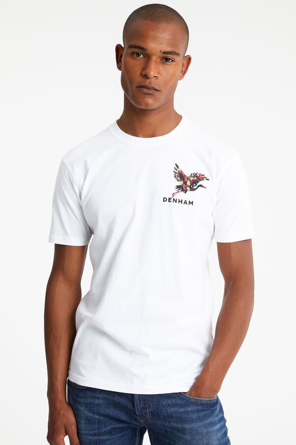MOORE TEE Crane embroidery - Regular Fit