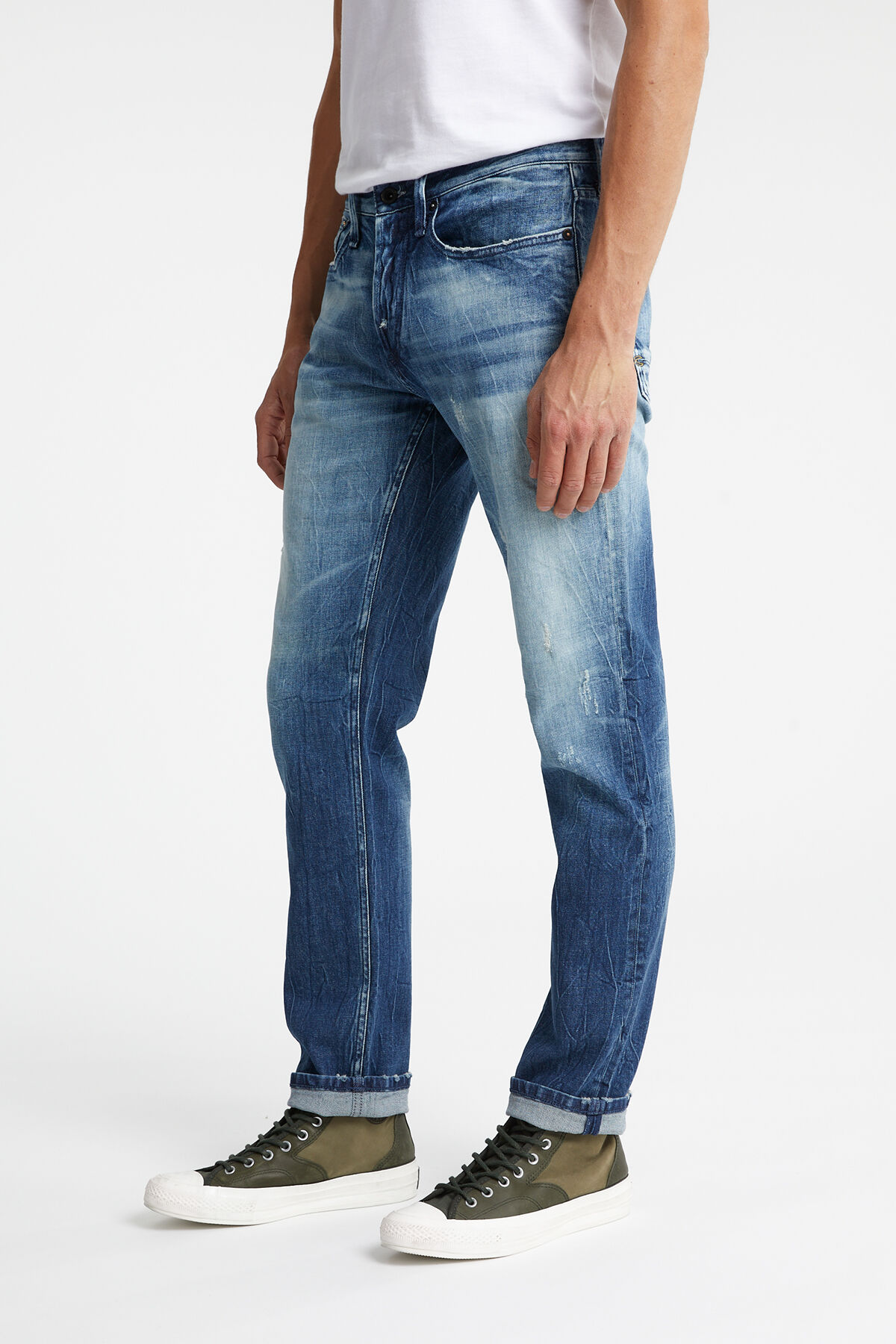 RAZOR Ripped Indigo Denim - Slim Fit