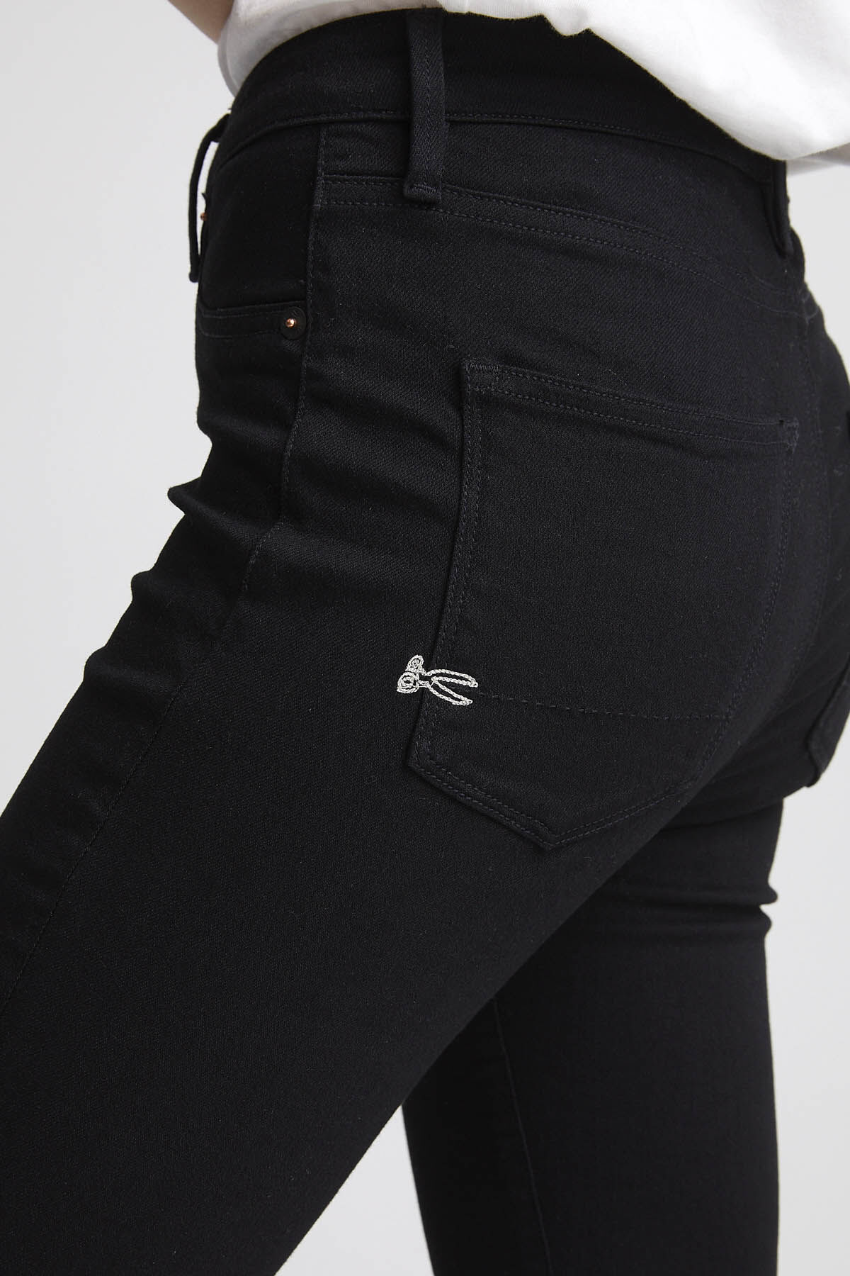 NEEDLE Double Black Stretch Denim - High-rise Skinny Fit
