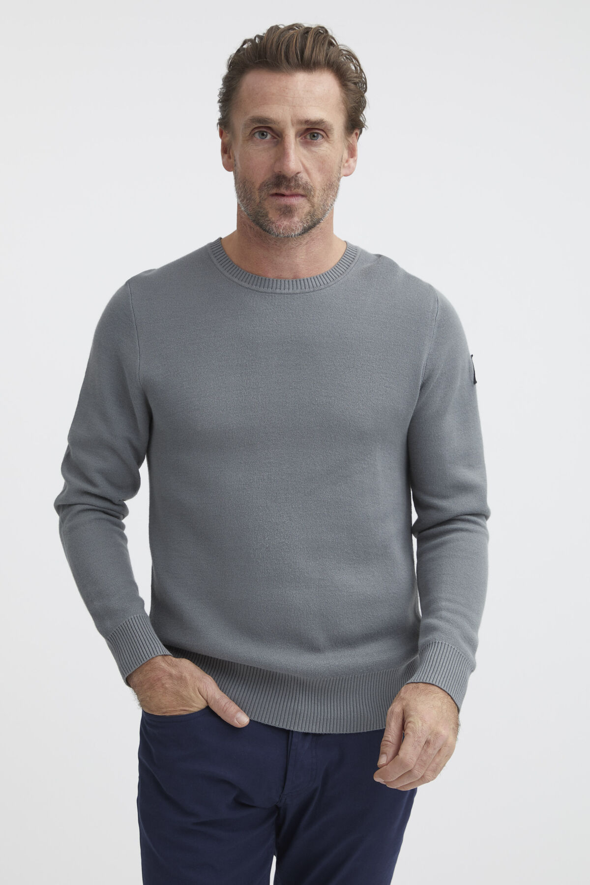 WALL CREW KNIT Double-Tech Fleece - Regular Fit