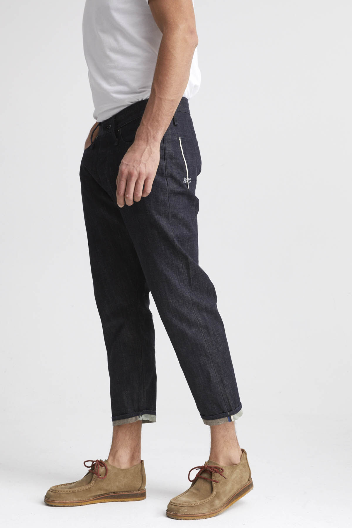 CROP Raw Selvedge Denim - Low Crotch, Cropped Fit