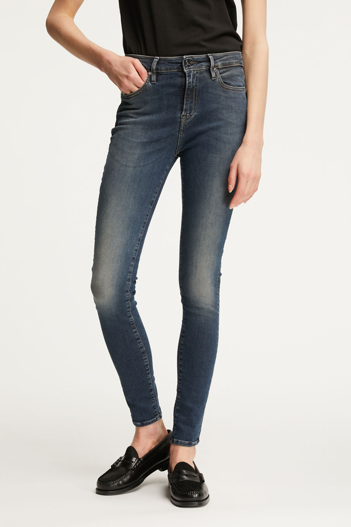 NEEDLE Classic Indigo Denim - High-Rise, Skinny Fit