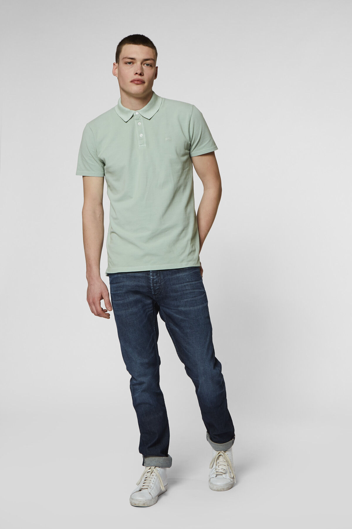 LUPO POLO Stretch Piqué Dyed - Slim Fit