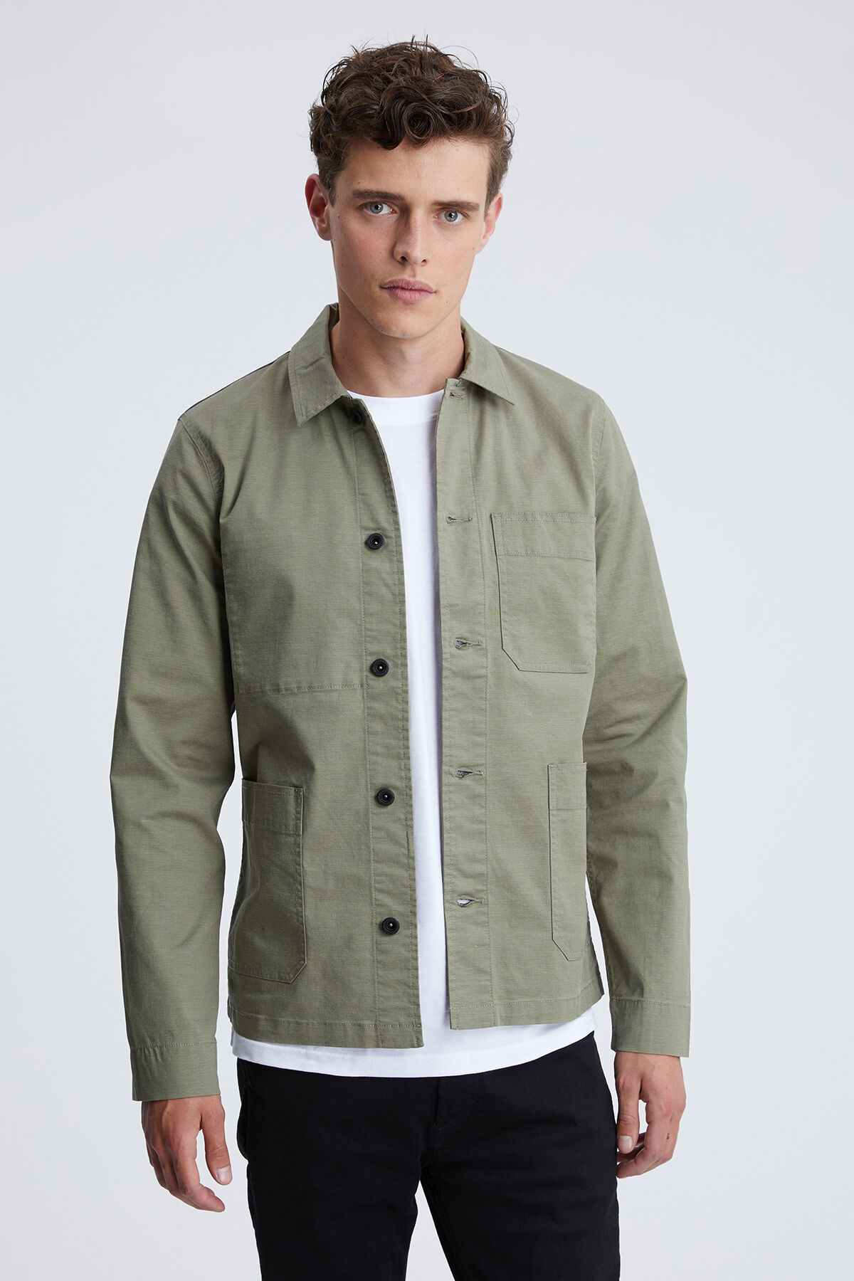 MAO JACKET Garment Dyed Twill - Slim Fit