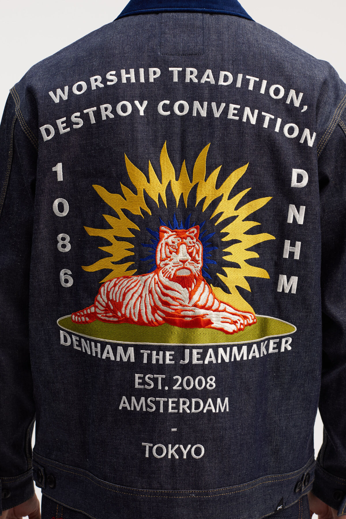 Y.O.T. DENIM JACKET Authentic Tiger Embroidery - Japanese Capsule Collection