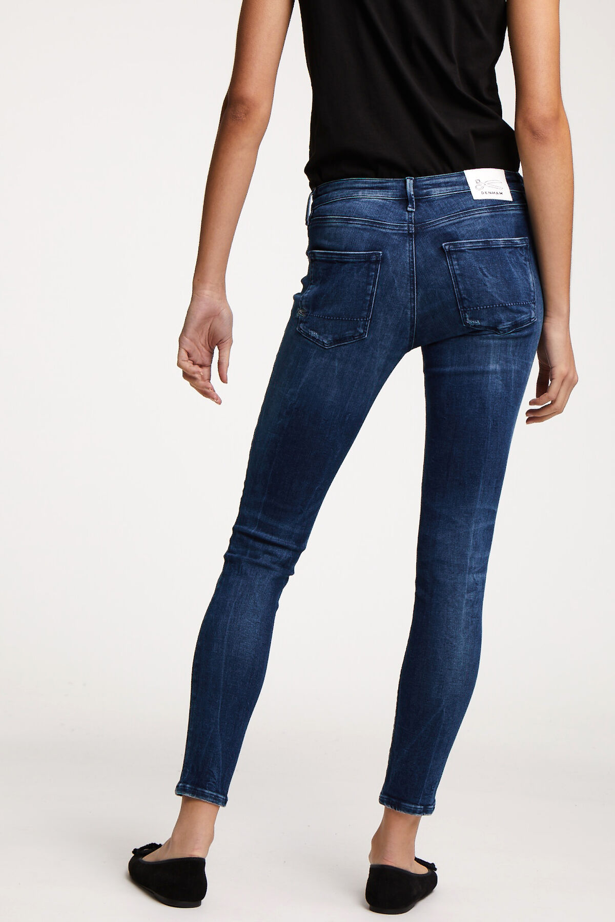 SPRAY Vintage Rip & Repair, Indigo Denim - Mid-rise Tight Fit