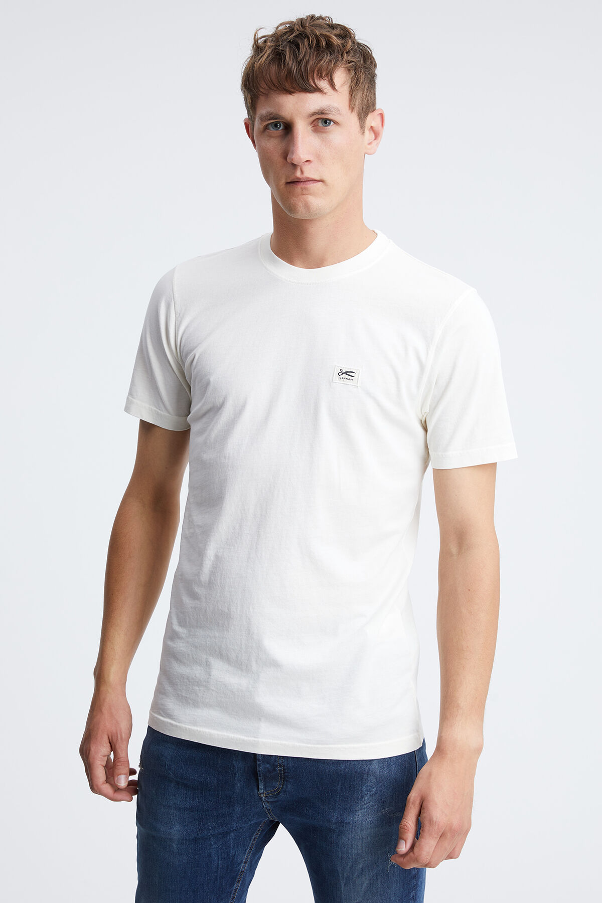 DENHAM APPLIQUE TEE Modal Jersey - Slim Fit