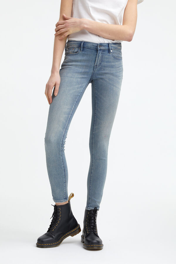 SHARP Light-aged denim - Mid-rise Skinny Fit