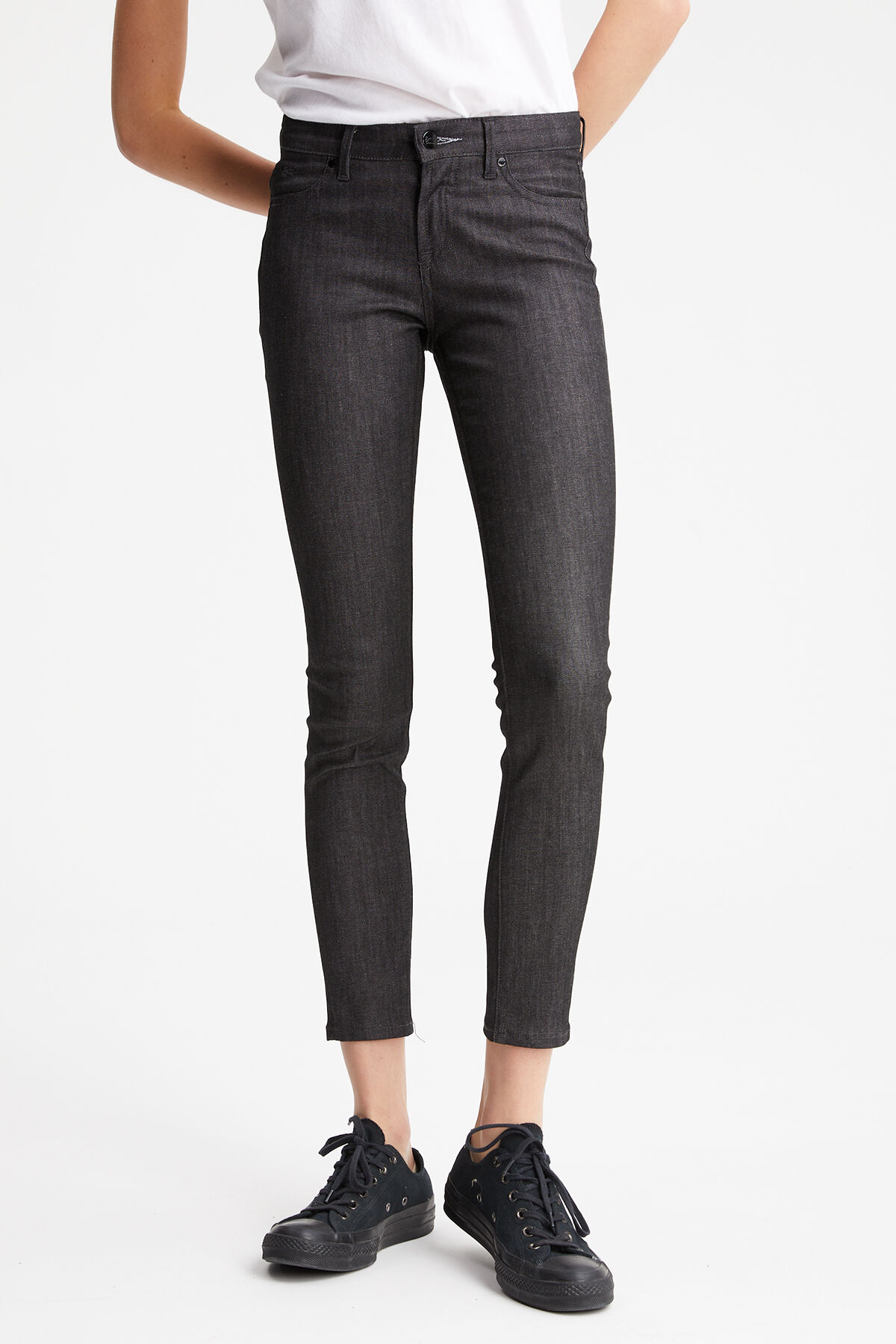 SPRAY Authentic Black Denim - MID-RISE, TIGHT FIT