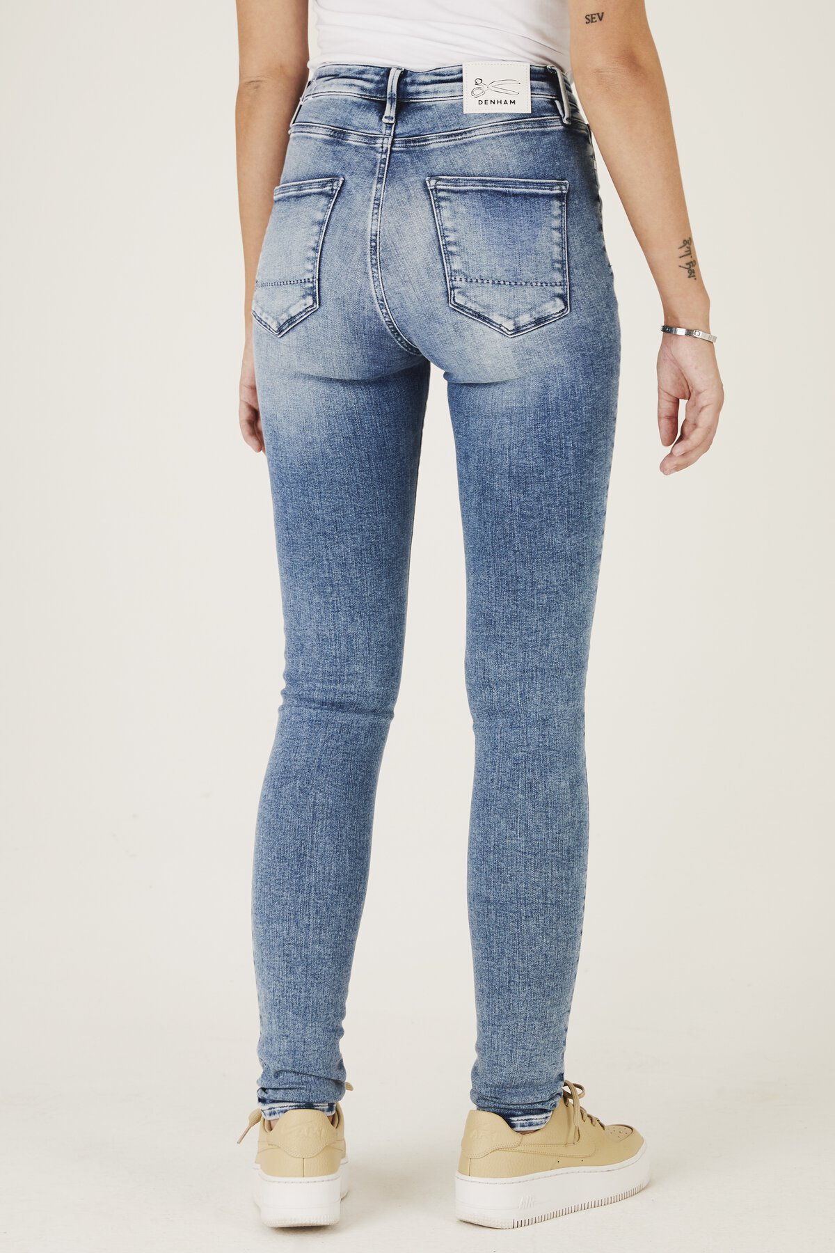 Needle - High-Rise Skinny Tight Fit Jeans - Back