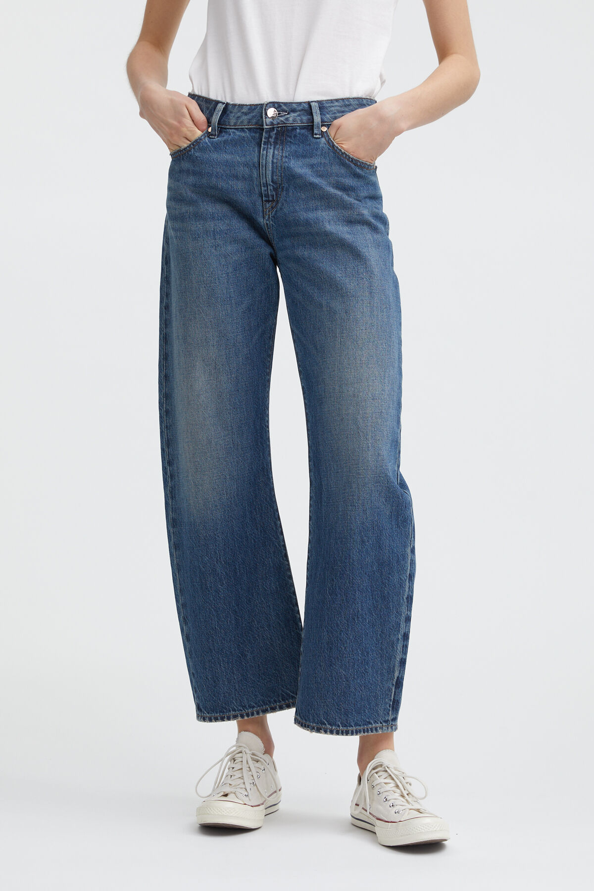 Bardot Wide Leg - Straight Fit Jeans - Front