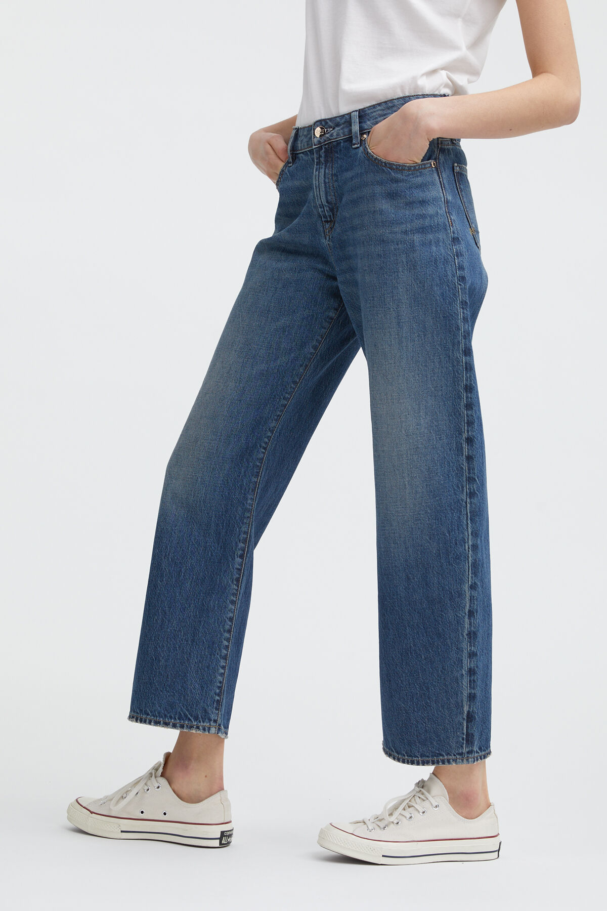 Bardot Wide Leg - Straight Fit Jeans - Back