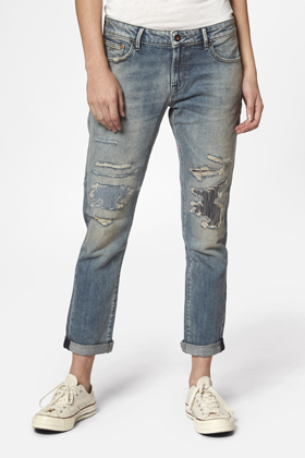 Monroe Girlfriend Tapered Fit Jeans - GRFA