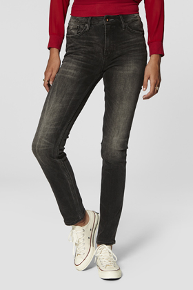 Heidi High Rise Straight Fit Jeans - B