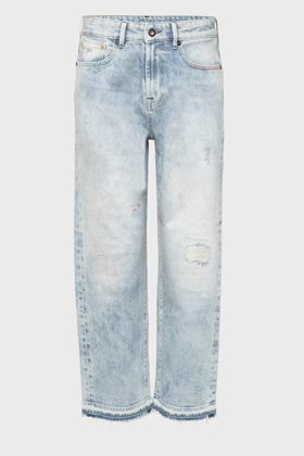 Alex Loose Crop Fit Jeans - GRID