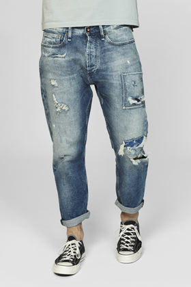 Crop Loose Carrot Fit Jeans - GRLV