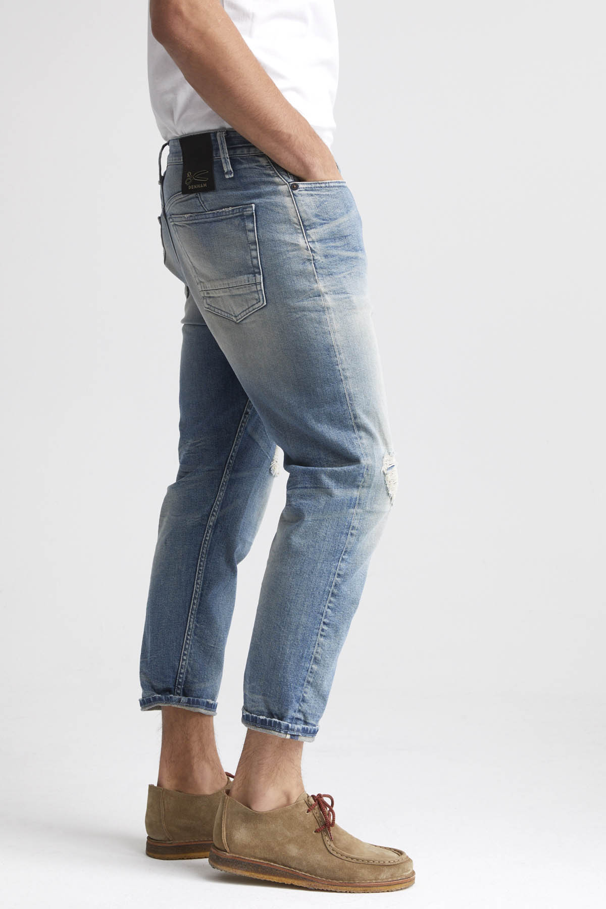 Crop - Low Crotch Cropped Fit Jeans - Back