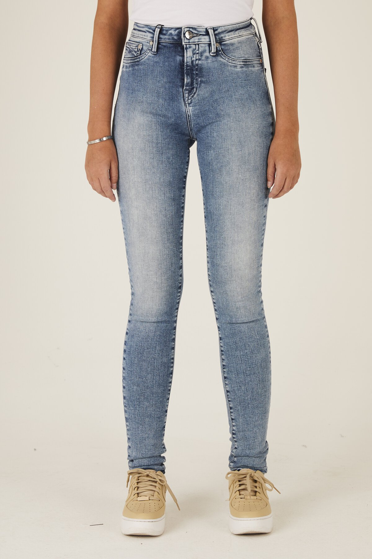 Needle - High-Rise Skinny Fit Jeans - Front