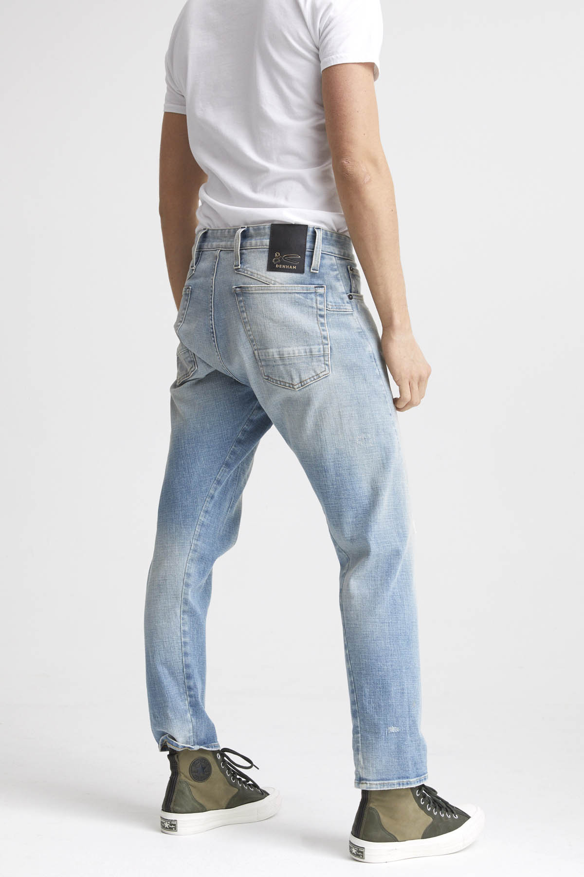 Kinetic - Wide Tapered Fit Jeans - - Back