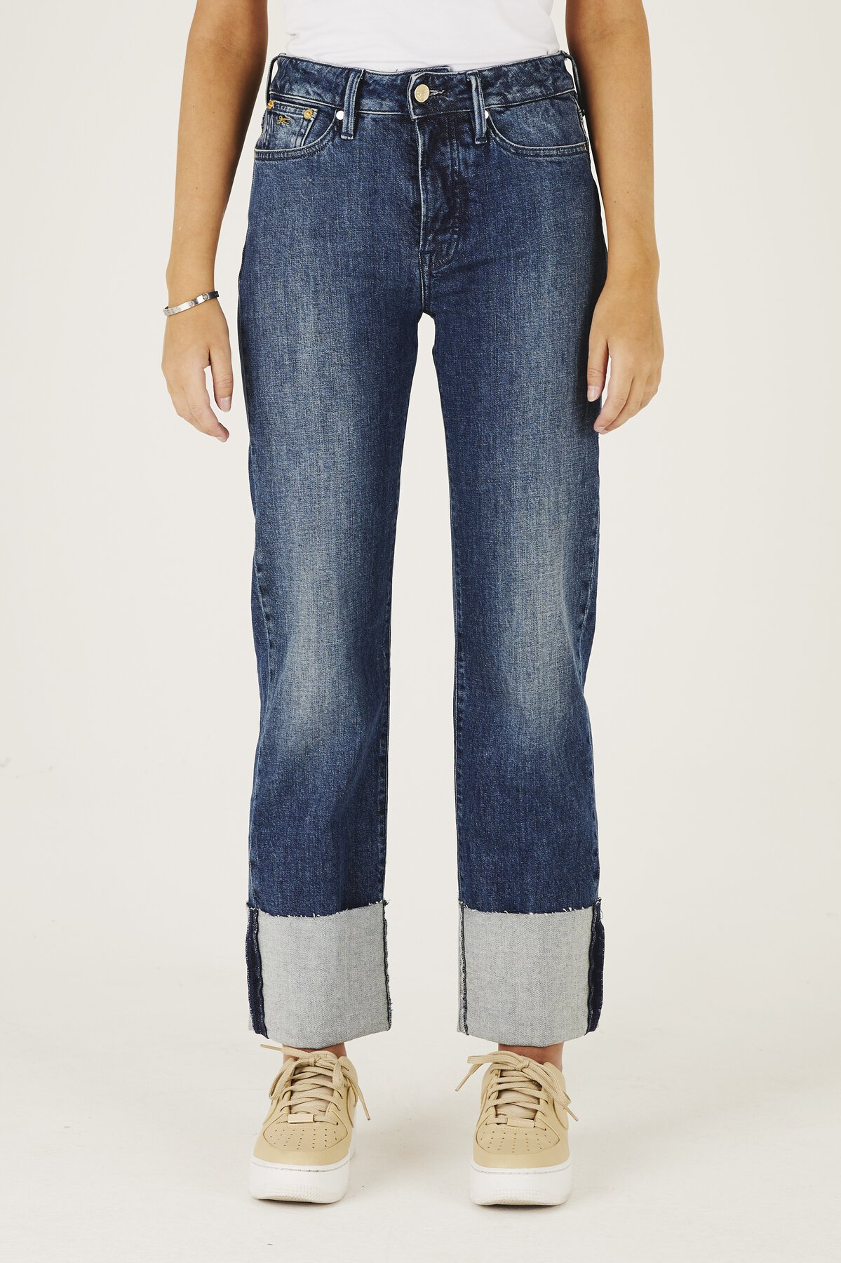 Kelly - Wide Leg Slim Fit Jeans - Front