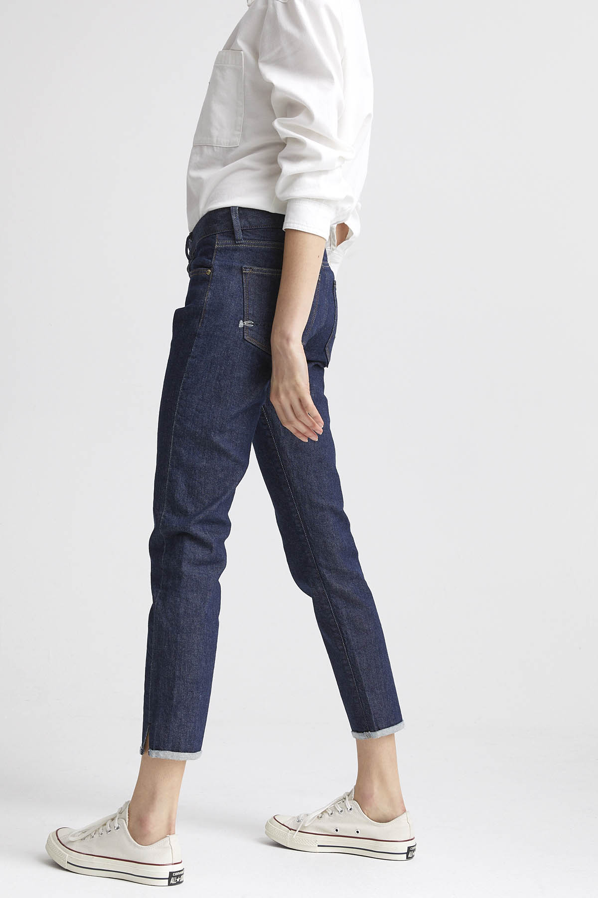 Liz Ankle - Slim Straight Fit Jeans - Back