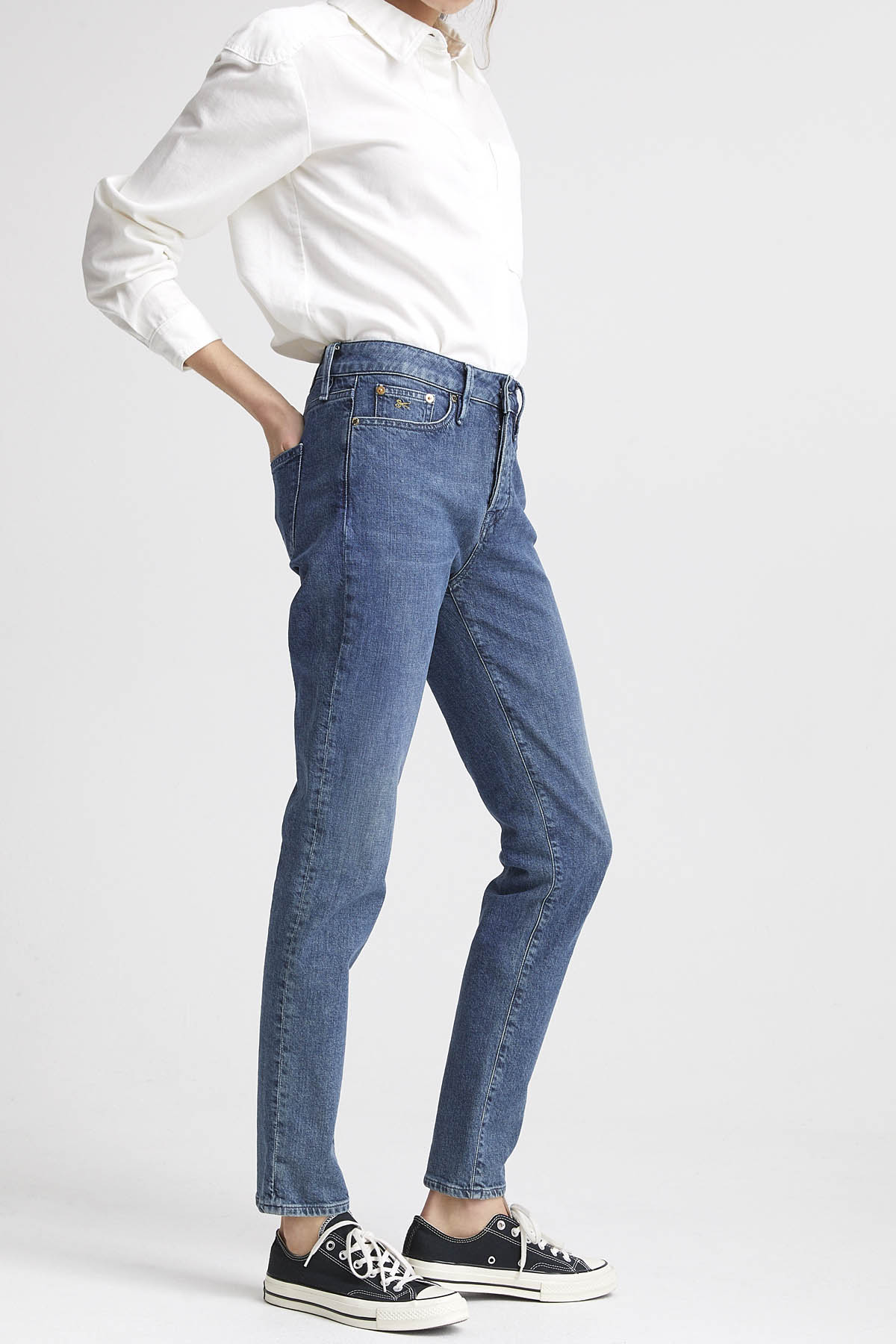 Heidi - High-Rise Straight Fit Jeans - Back